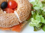 Bagel sandwich 'Smoked salmon & cream cheese'