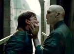 Ralph Fiennes inspects Daniel Radcliffe's nose ahead of Voldemort's plastic surgery appointment