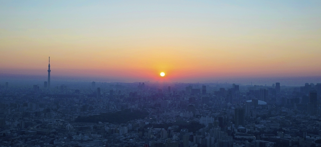 Watch the first sunrise of 2015 in Tokyo
