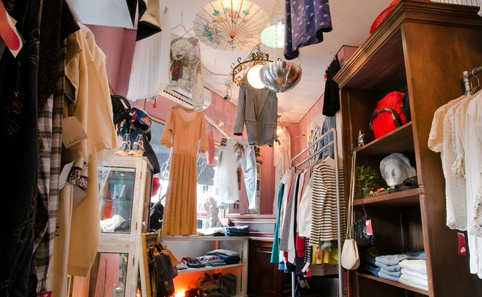 Late-night vintage stores